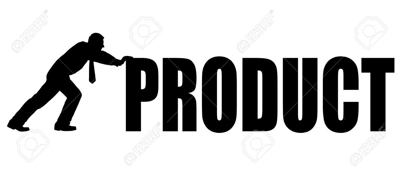 16007594 businessman pushing a word product