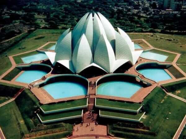 En etkileyici 20 mimari yapı| lotus (bahai) tapınağı-hindistan