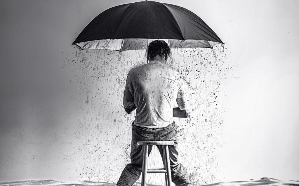 şemsiyeli amca