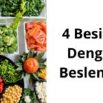 4 besinle dengeli beslenme