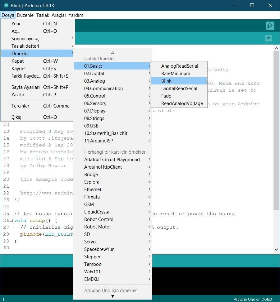 Arduino IDE Blink