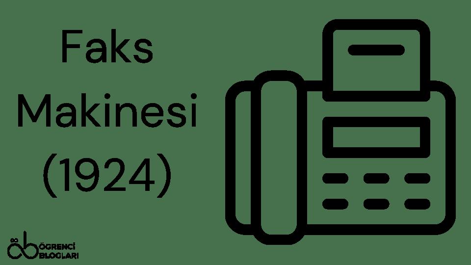 Faks Makinesi (1924)