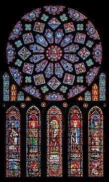 Fransa Chartres Katedrali'nin vitrayları