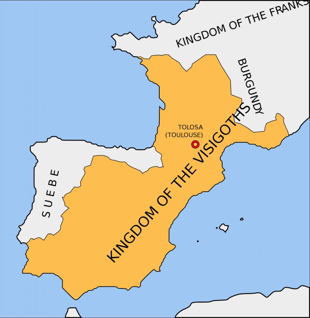 Kavimler Göçü Esnasında Fransa Haritası