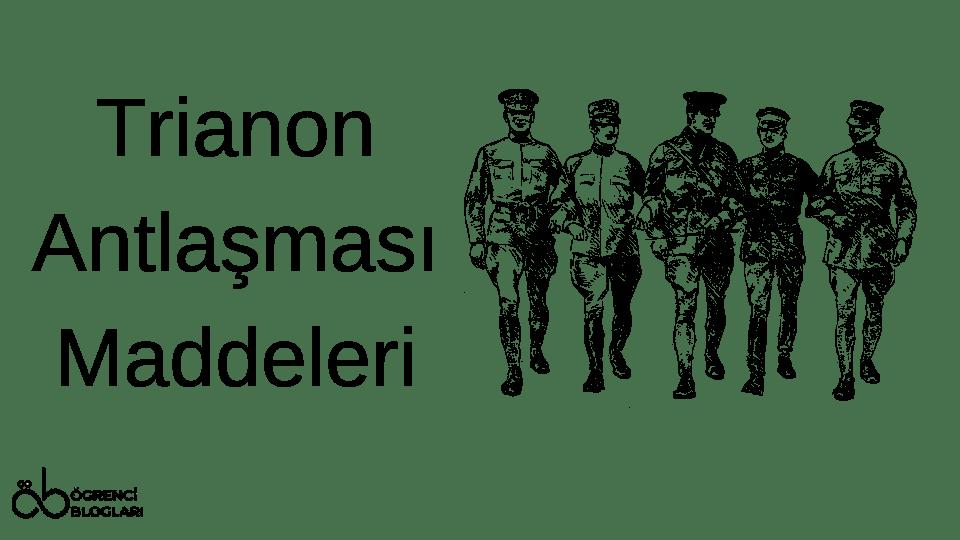 Trianon Antlaşması Maddeleri
